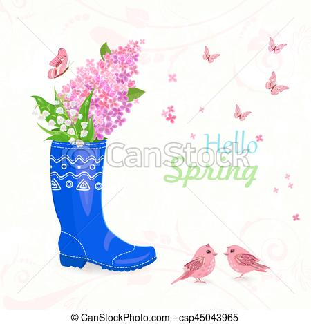 Bouquet clipart funny Flowers card  Vector spring