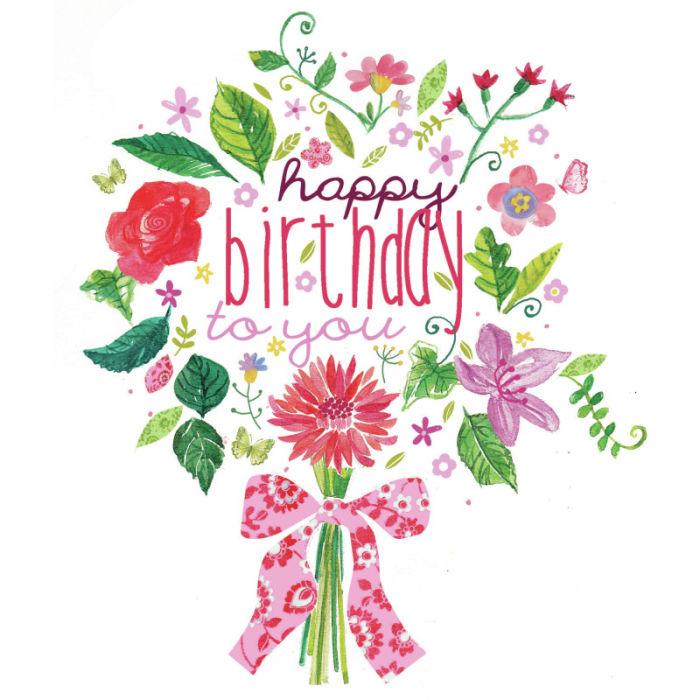 Bouquet clipart happy birthday Bouquet HBD birthday to Pinterest