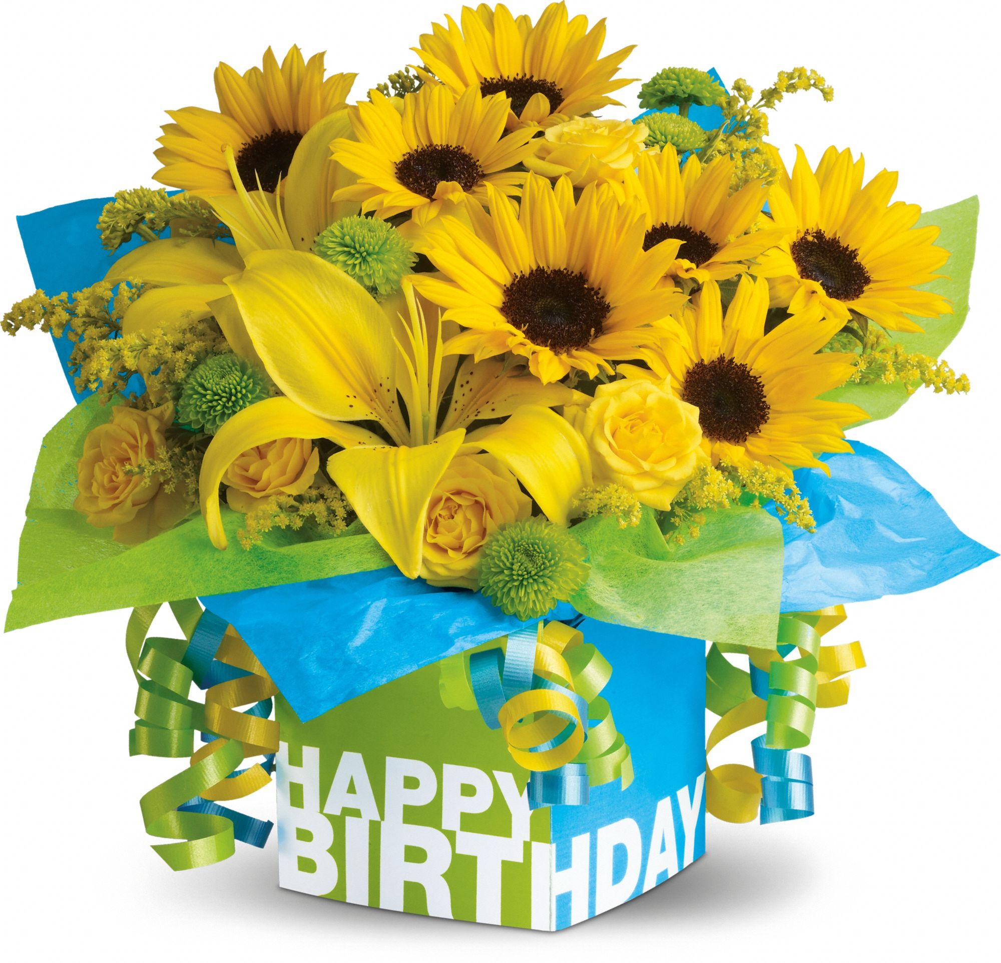 Bouquet clipart happy birthday  Sunflowers Teleflora's bouquet Teleflora's