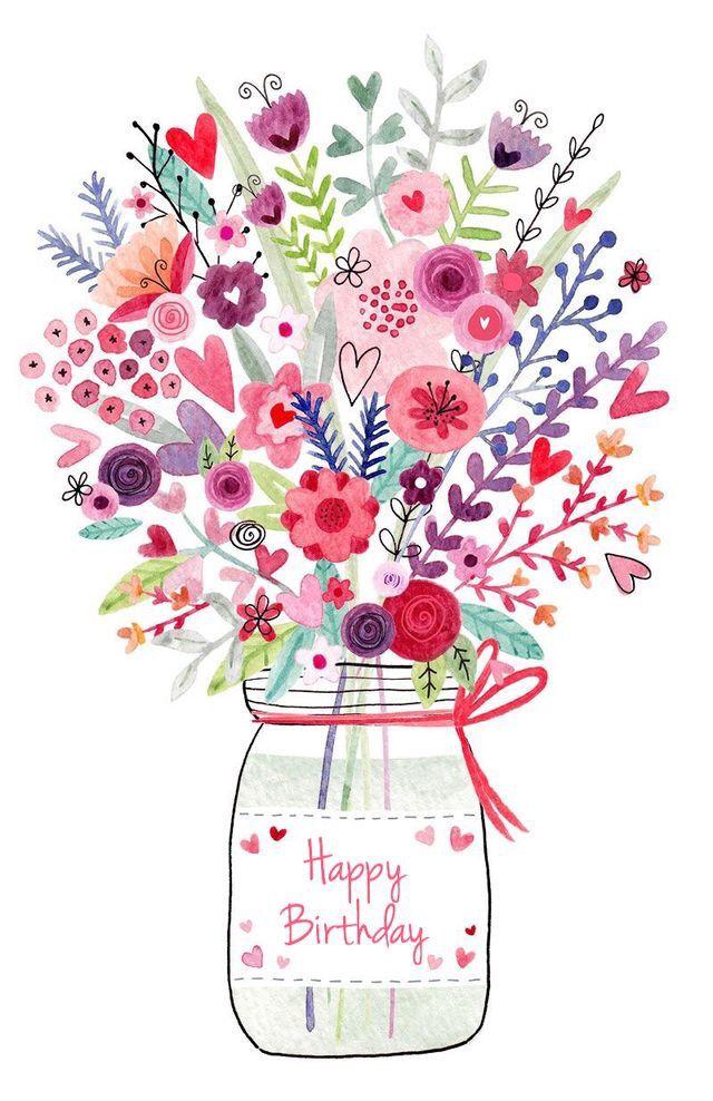 Beautiful clipart birthday flower On Happy Birthday Happy Best
