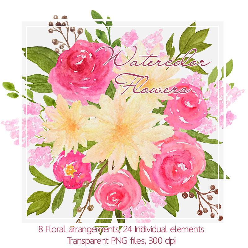 Bouquet clipart marriage flower Clipart Hand Art digital a