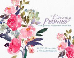 Bouquet clipart marriage flower Flowers peonies Bouquet Flower Watercolor