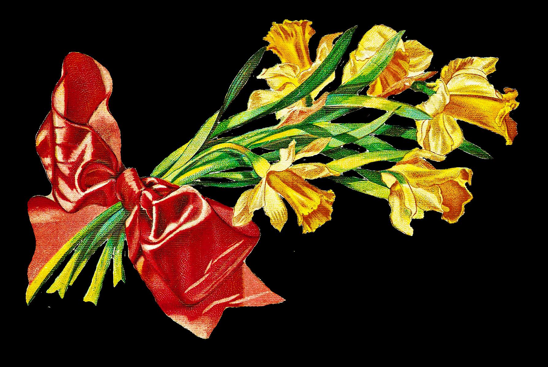 Bouquet clipart may Vintage Bouquet Bouquet CatnipStudioCollage Free