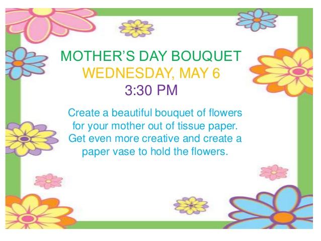 Bouquet clipart may 2015 BOUQUET & TWEEN Washington Public
