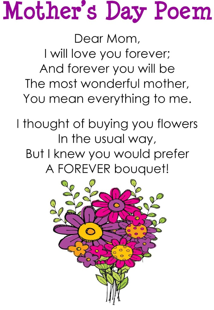 Bouquet clipart mom With poem poem day Poem