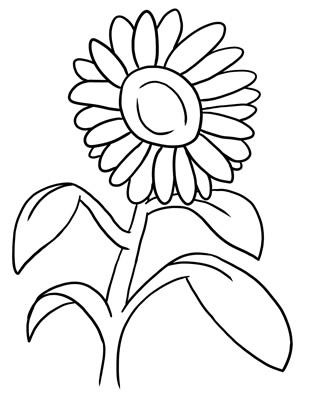 Plant clipart outline # Outline Flower Free #