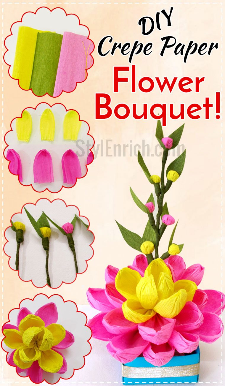 Bouquet clipart paper flower Paper Make Crepe Let's Crafts