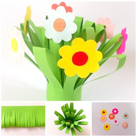 Bouquet clipart paper flower Bouquet Crafts Flower Flower Bouquet