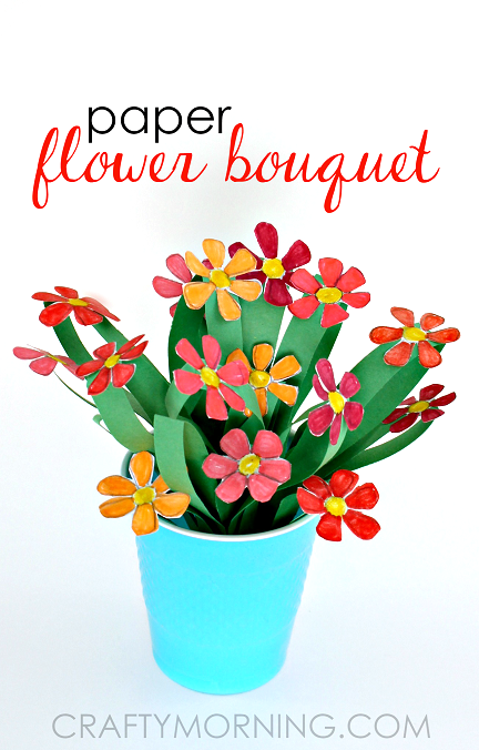 Bouquet clipart paper flower Bouquet for Kids Craft Flower