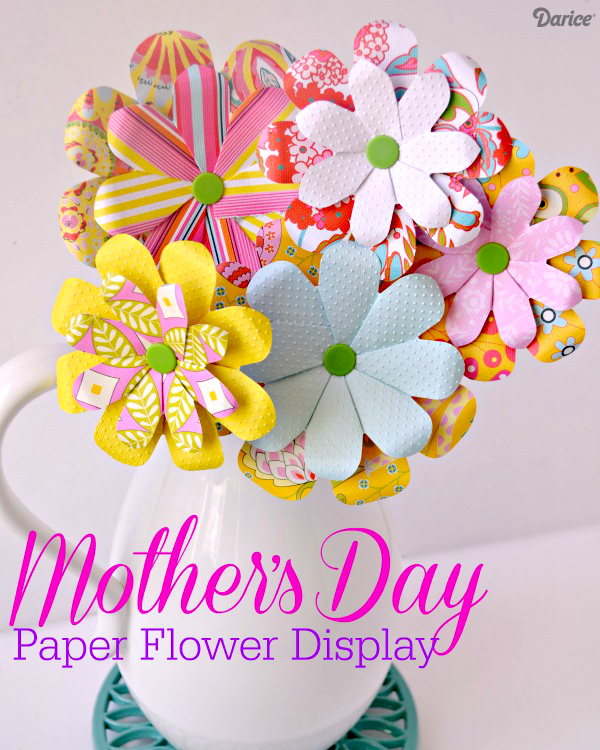Bouquet clipart paper flower DIY Day We Paper Mother's