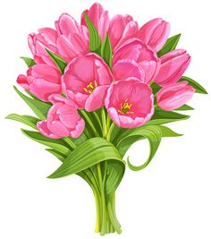 Bouquet clipart pink flower You~ Pinterest Pink Tulips ~Roses