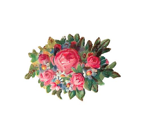 Bouquet clipart pink rose bouquet Free art Images: Dusty scrap