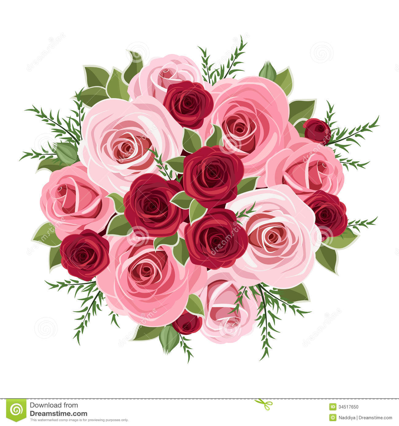 Bouquet clipart pink rose bouquet Collection bouquet bouquet Clipart green