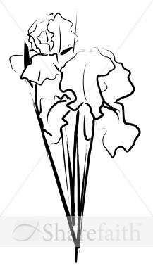 Bouquet clipart sketch  Sketch Bouquet Church Clipart
