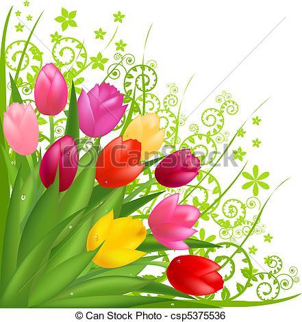 Bouquet clipart spring flower bouquet Csp5375536  Bouquet From Flowers