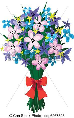Bouquet clipart spring flower bouquet Spring with flowers csp6267323 bouquet
