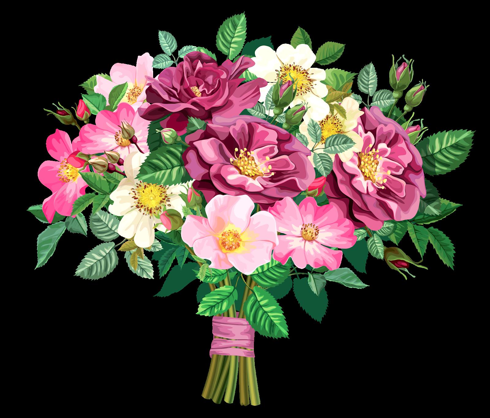 Pink Rose clipart flower bouquet TRANSPARENT BOUQUET Design ROSE CLİPART