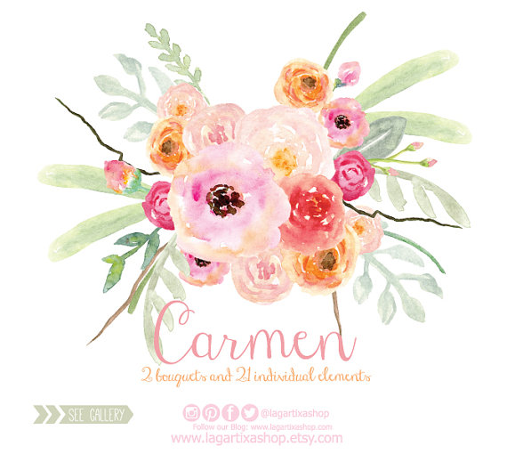 Bouquet clipart flower vector Bridal Arrangement arrangement bouquet digital