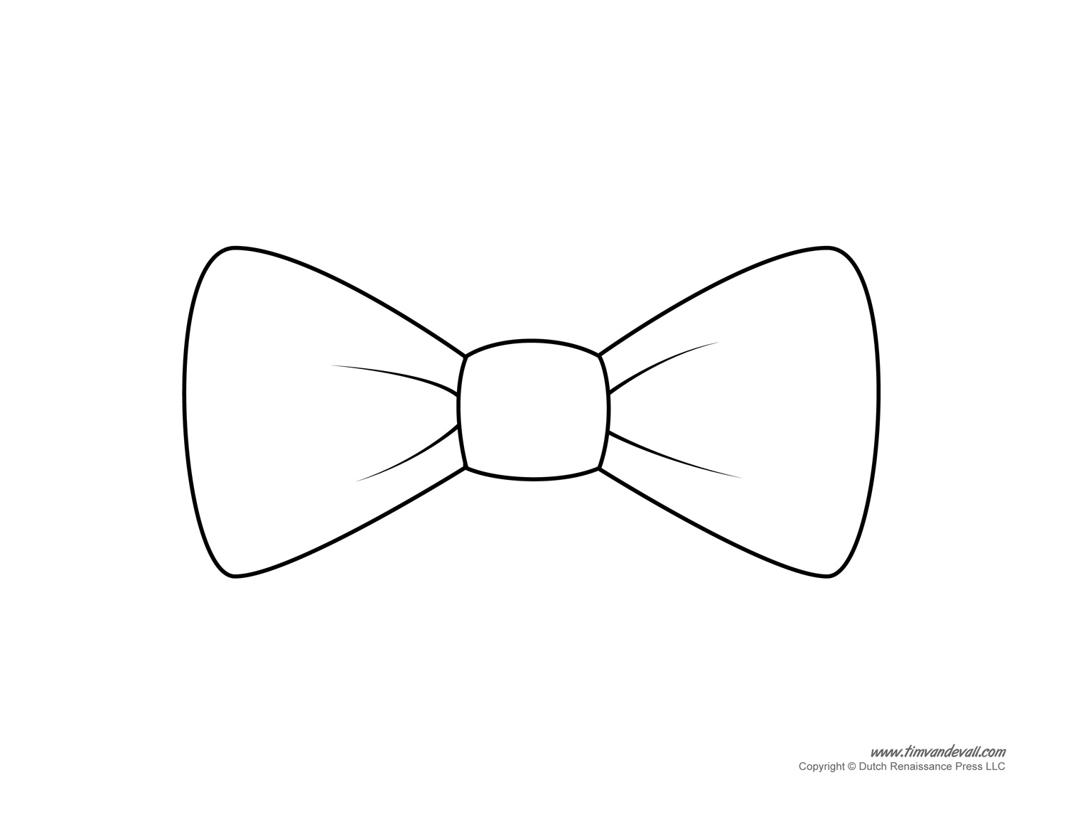 Drawn bow tie Tie Printables Template on Clip