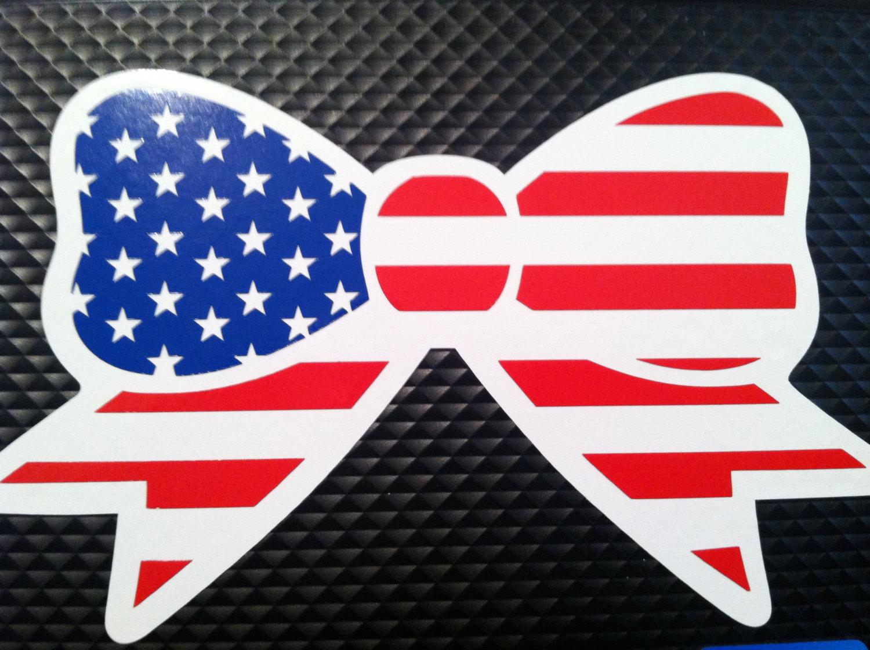 America clipart bow tie Bow $5 Decal Flag Flag