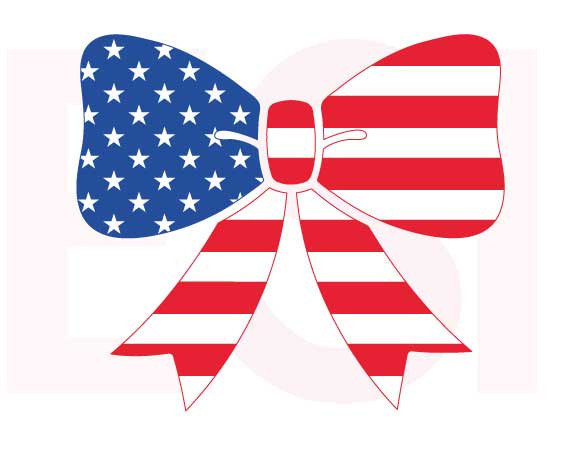 America clipart bow tie Bows of day 4th July