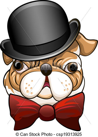 Bow Tie clipart derby hat Hat Bulldog hat Funny a
