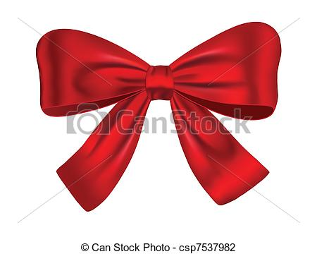 Bow Tie clipart gift bow Red Illustration gift Red bow