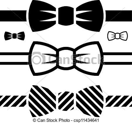 Drawn bow tie Symbols EPS vector Search bow