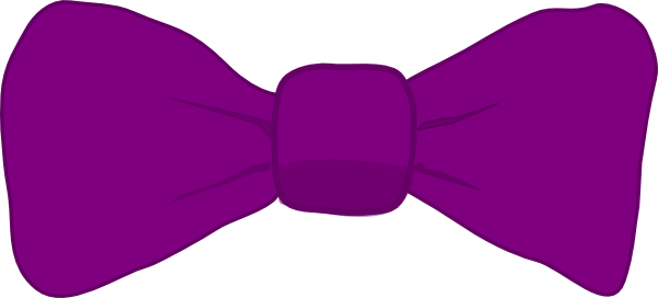 Bow Tie clipart art Art large vector Purple small