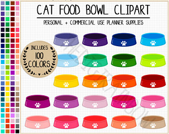 Bowl clipart cat food Bowl clipart planner animal bowl