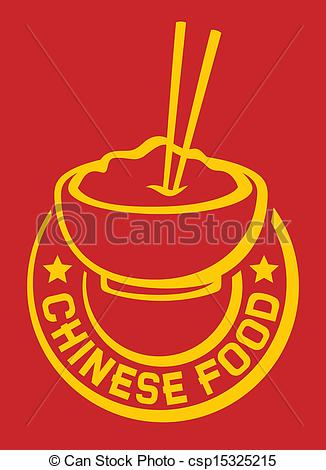 Bowl clipart chinese food Label label Vector Vector chinese