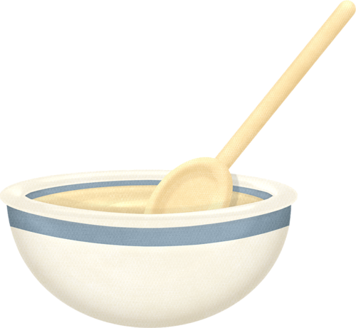 Bowl clipart cookbook Spoon Mixing bowl Mixing spoon