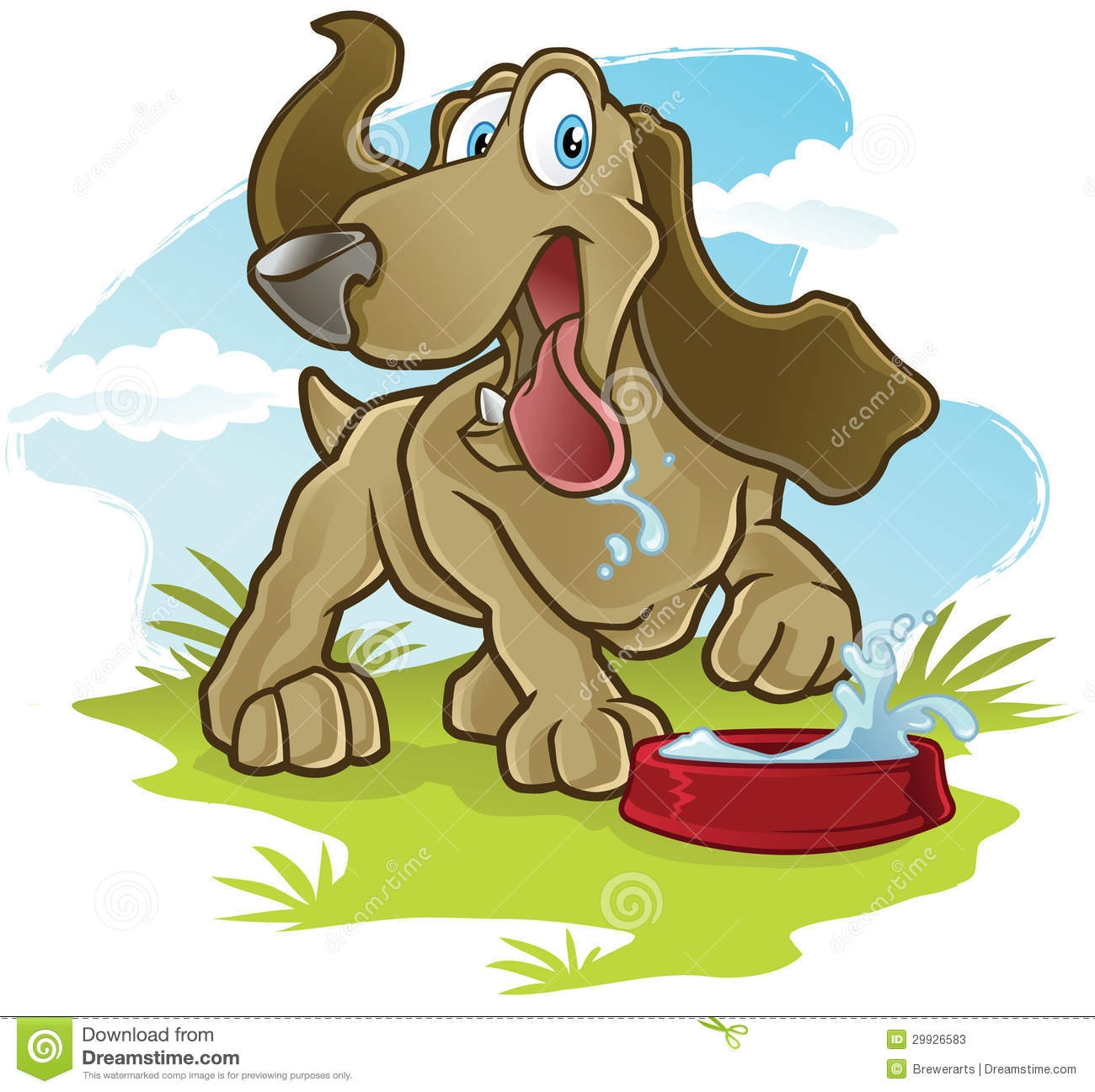 Animal clipart drink water Drink Water Water Animal Cli