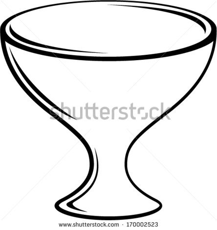 Bowl clipart empty glass Vector Empty collection clipart Stock