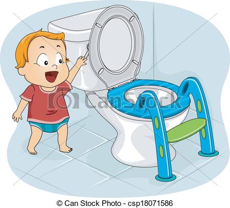 Bowl clipart flush toilet Vector csp18071586 Toilet Baby a