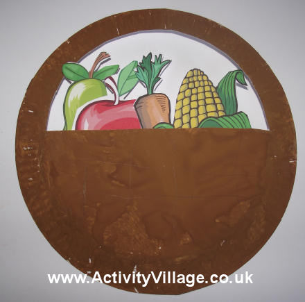 Bowl clipart paper plate  Paper Basket Harvest Plate