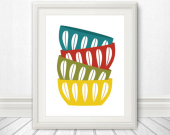 Bowl clipart stacked Bowls bowl Etsy Mid Cathrineholm