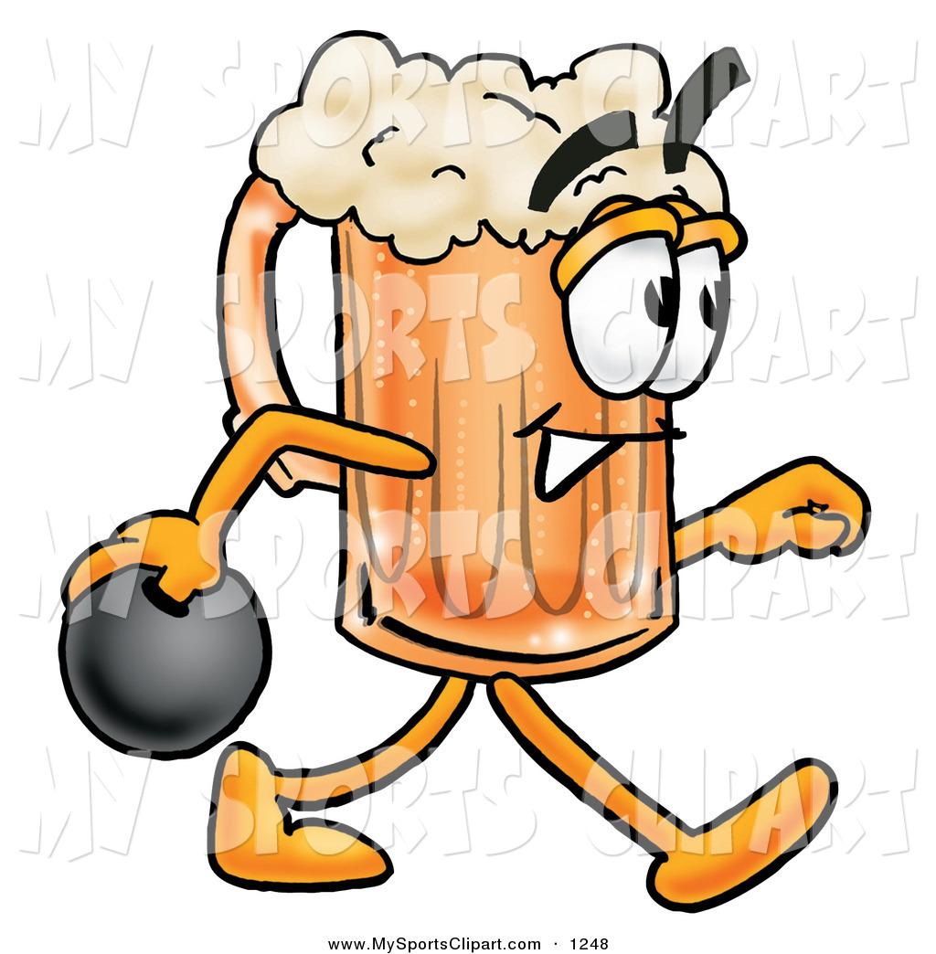 Beer clipart bowling Mug Character Sports Clip a