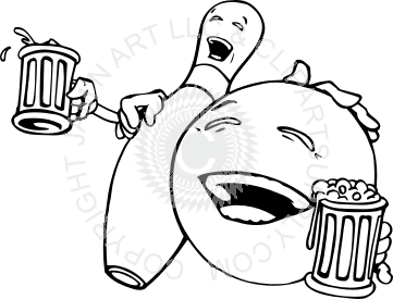 Beer clipart bowling Bowling Ball Pin Drinking and
