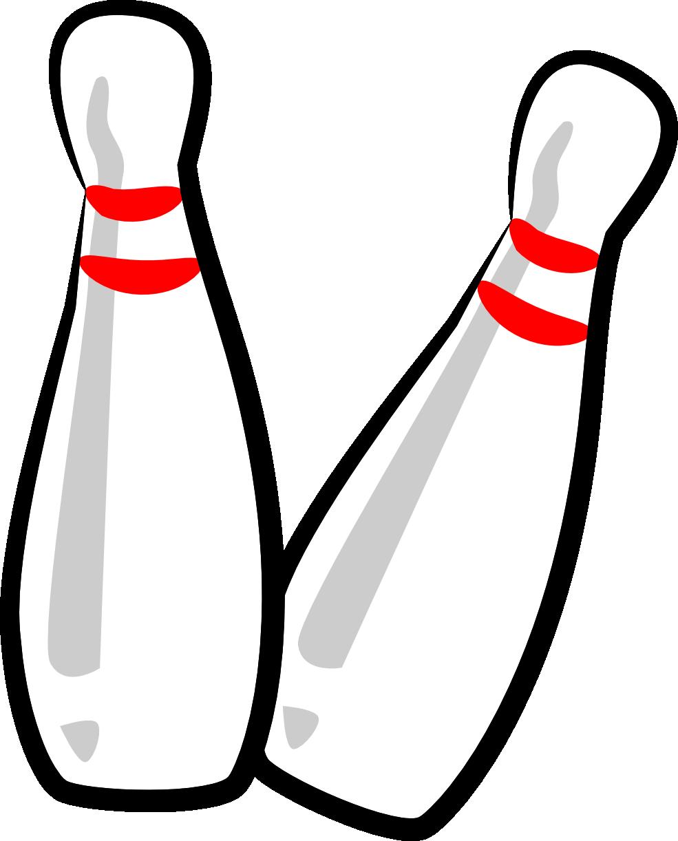 Retro clipart bowling pin #2