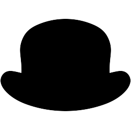 Bow Tie clipart derby hat Bowler Silhouettes: Silhouette New Hat