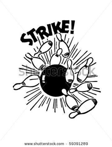 Retro clipart bowling pin #13