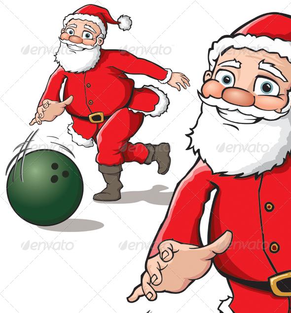 Bowling clipart santa claus Seasons/Holidays Christmas Santa GraphicRiver Santa