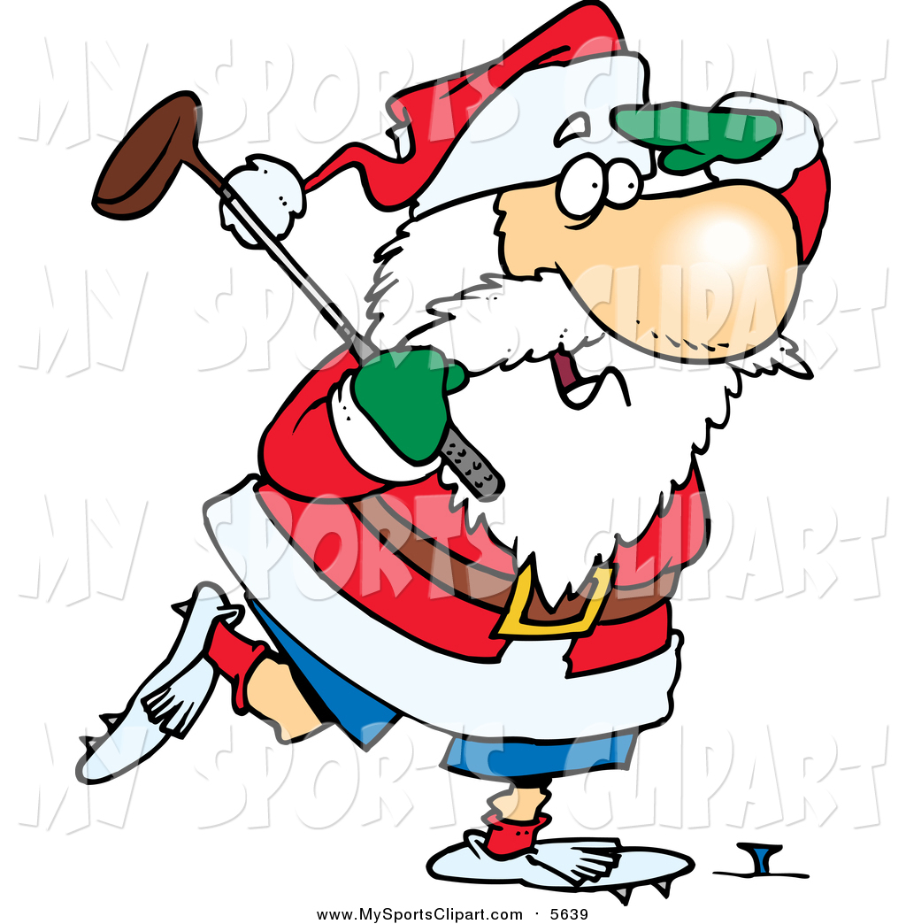 Bowling clipart santa claus Of Art by Stock a