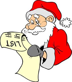 Bowling clipart santa claus List Checking Clipart Clipart Download