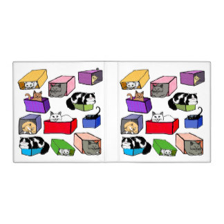 Box clipart binder In 3 Colorful Binder Cats
