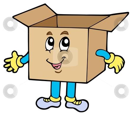Box clipart cartoon Box cardboard Cartoon vector stock