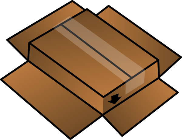 Box clipart cartoon Vector image com this Clker