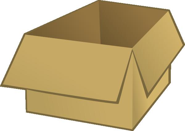 Box clipart cartoon On Front Art  Box