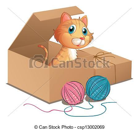 Box clipart cat Box csp13002069 cat Clip A
